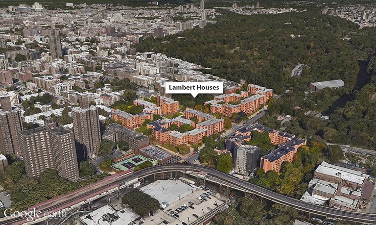 Google Earth View of the Lambert Houses in the Bronx