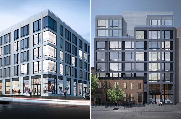 Myrtle & Steuben, two new rental buildings in Clinton Hill from Greystone Development and AB Architekten (Renderings via AB Architekten)