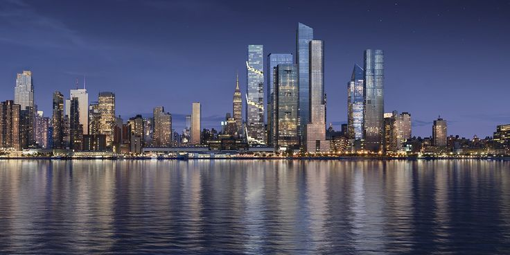 Skyline rendering with The Spiral via Tishman Speyer