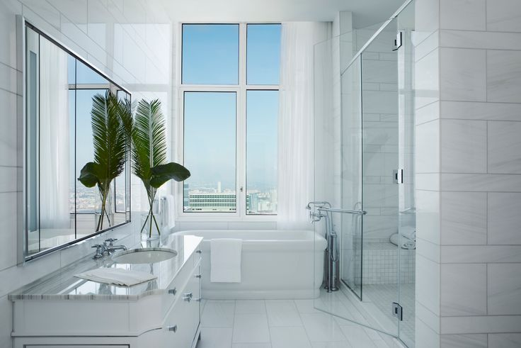 Master bath at The Four Seasons Private Residences via Evan Joseph