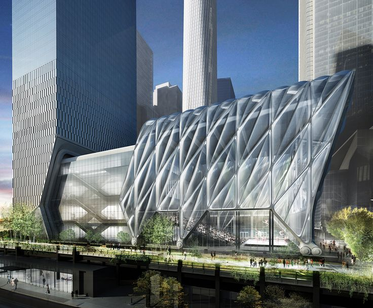 The Shed, a dynamic arts and culture venue located where the High Line meets Hudson Yards (Diller Scofidio + Renfro)