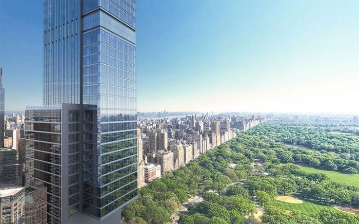 Rendering of Central Park Tower via YIMBY