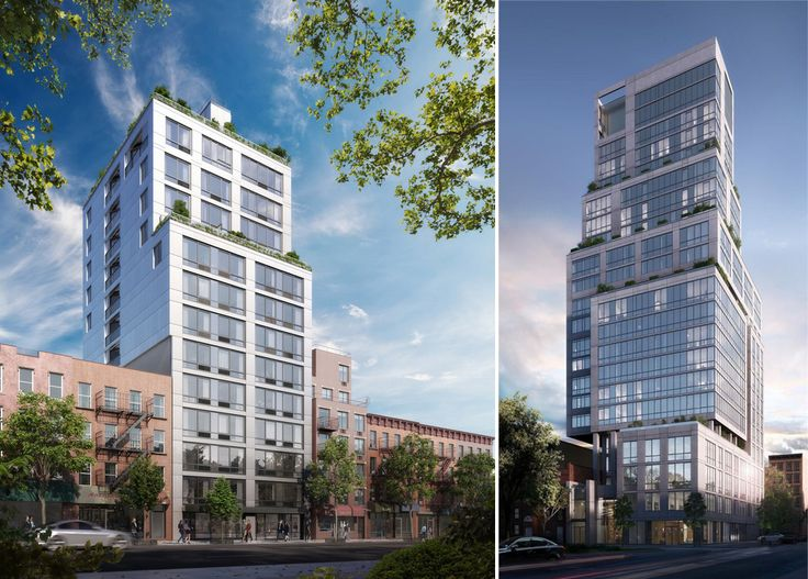 The Cereza (l) and North Park Tower (r) via Douglas Elliman