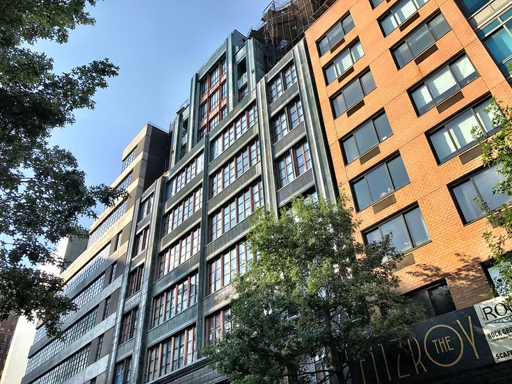 Exterior photo of The Fitzroy in early August (CityRealty)