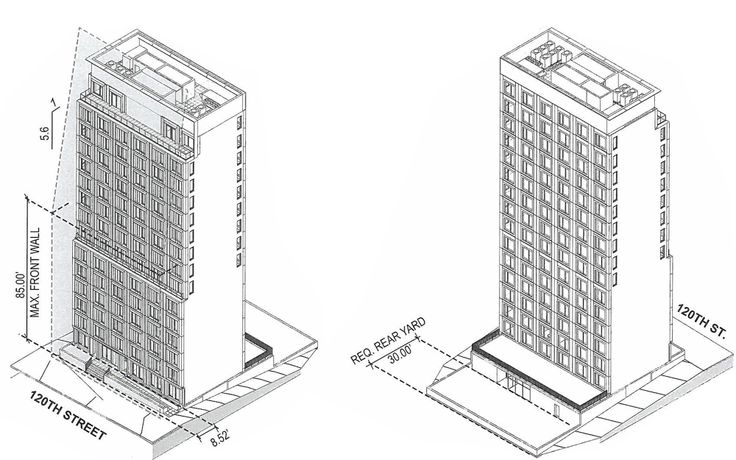Capture from recently approved zoning documents via DOB Website