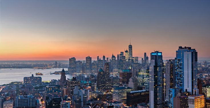 West vew from Hub's sky lounge on the 53rd floor; Photo credits: Steiner NYC