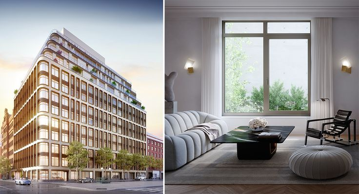 All renderings of 40 Bleecker credit of Moso Studios