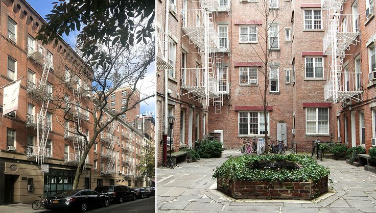 224 Sullivan Street's exterior and courtyard (Mark Gould Architect)