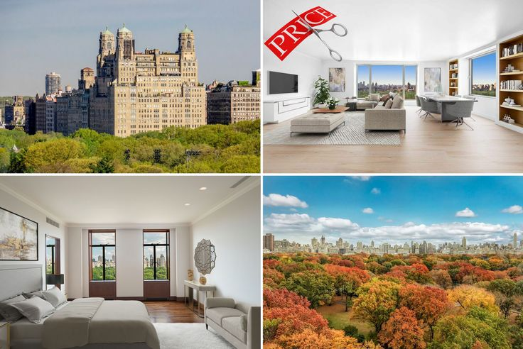 Several listings with views of Central Park had their prices reduced over the past week