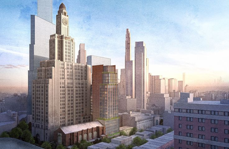 New mixed-use condo tower by Gotham with Brooklyn School of Music (FXCollaborative)