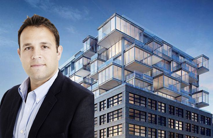 Scott Shnay  and rendering of SK Development's The West condominium in Hell's Kitchen