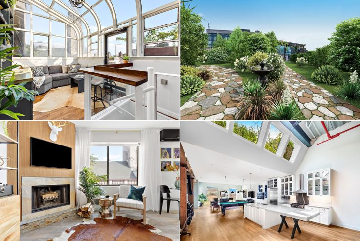 Last week's most eye-catching listings include an East Village triplex penthouse with a 12-foot-high greenhouse-style solarium and a Tribeca penthouse with Hudson River views (via Compass)