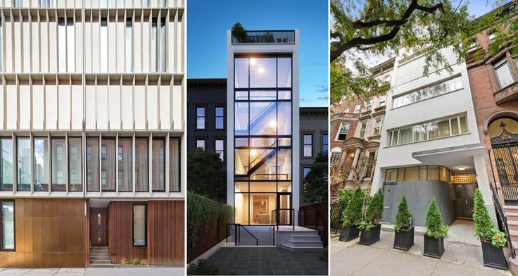A few contemporary townhouses now availble in Brooklyn and Manhattan