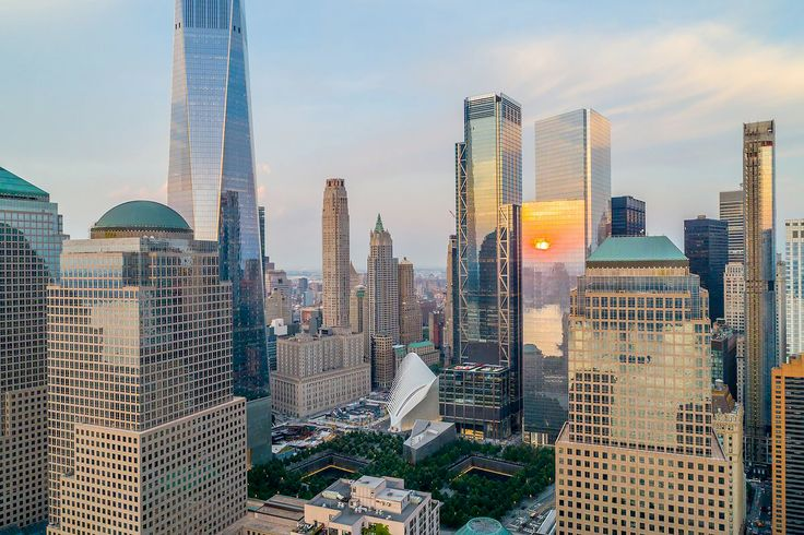 Photo of the new WTC and lower Manhattan (via Gateway apartments in Battery Park City)