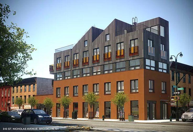 Rendering of 310 Saint Nicholas Avenue via ND Architecture