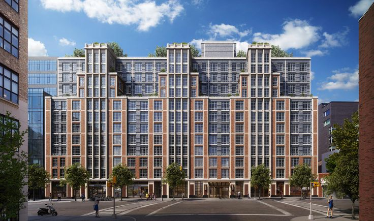 Rendered elevation of 261 Hudson Street; Image credit Related COmpanies