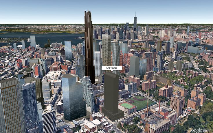 Google Earth aerial showing possible tower location (CityRealty)