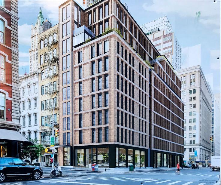 New rendering of 61 Warren Street (65-71 West Broadway)