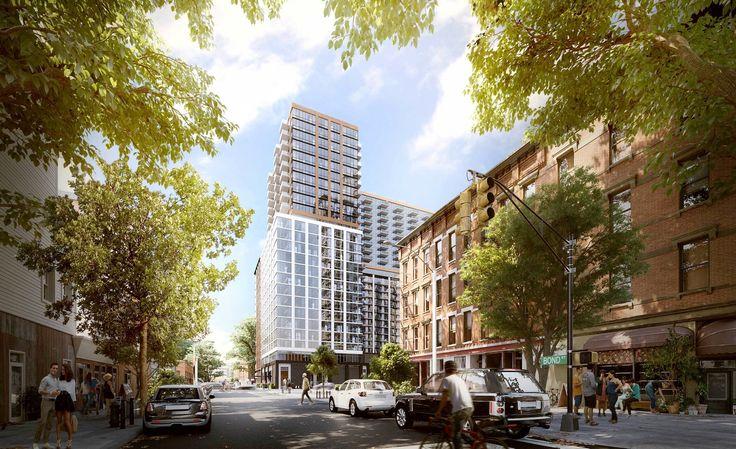 A rendering of 33 Bond Street, a new 25-story rental development from TF Cornerstone (Image via TF Cornerstone)