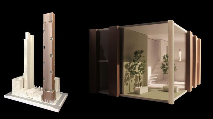 Model views of 281 Fifth Avenue; Image credit Rafael Vinoly Architects via Jinglu Huang