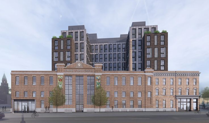 All renderings of Empire State Dairy buildings via Dattner Architects for Landmarks Preservation Commission