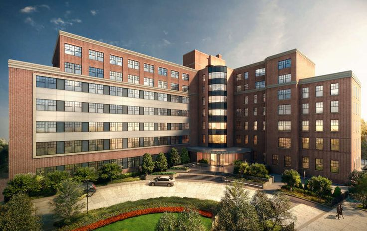 The Parkside includes the former Caledonia Hospital, which was converted to rentals in 2014. (Image via Ray Builders)