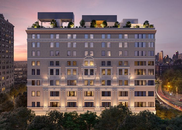 Rendering of One Prospect Park West, a condominium conversion that will launch sales in spring 2019. (Credit: Binyan Studios)