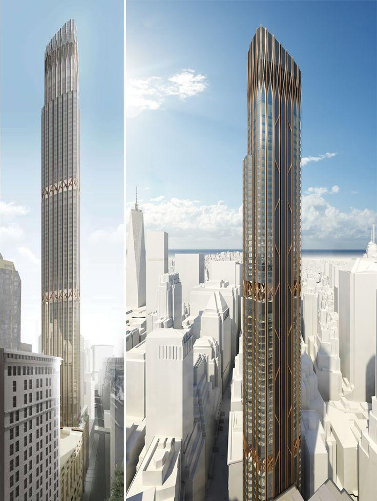 Rendering of 45 Broad Street via Madison Equities / Pizzarotti IBC / Cetra/Ruddy