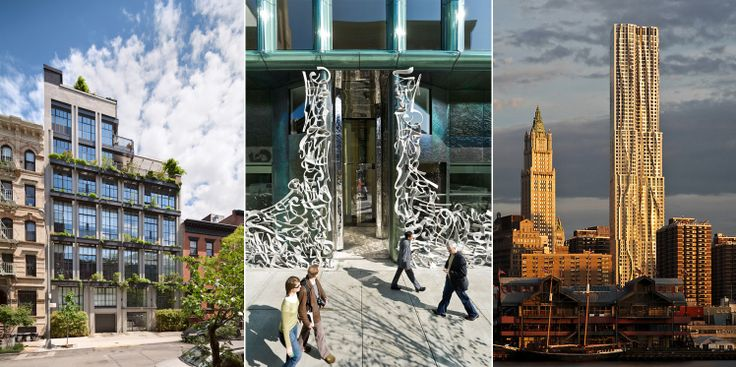 The Flowerbox Building, 40 Bond (Iwan Baan), and New York by Gehry (DBOX)