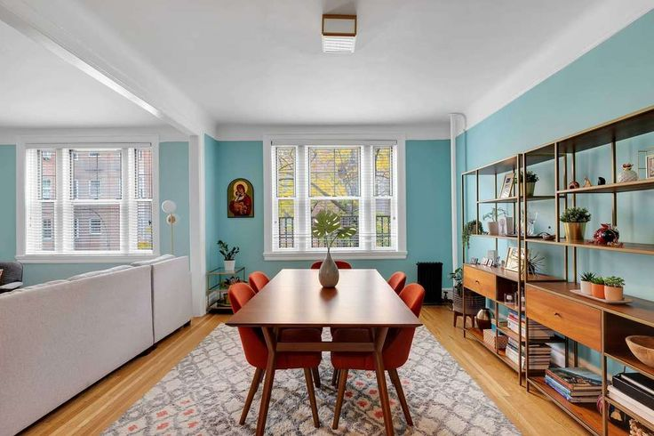 NOT a shot from a suburban house - this is a dining room in a Jackson Heights co-op! (35-25 78th Street via Compass)