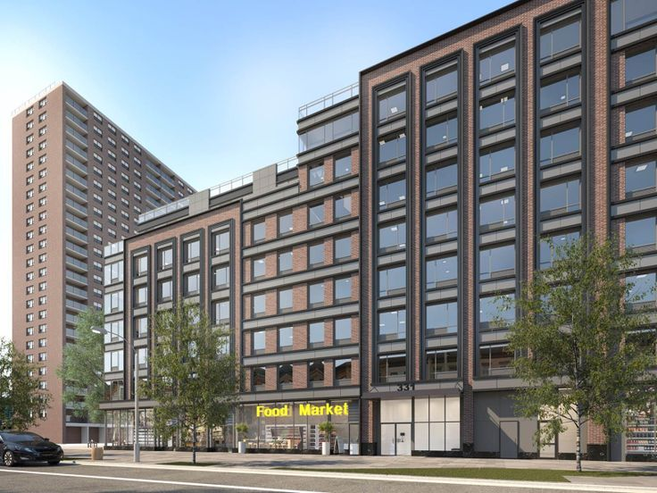 325 Lafayette Avenue Will Restore Key Food At Its Base. Rendering via Slate Property Group