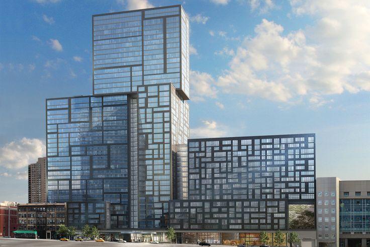 The new 42-story rental 606W57 in Midtown West via 606w57.com