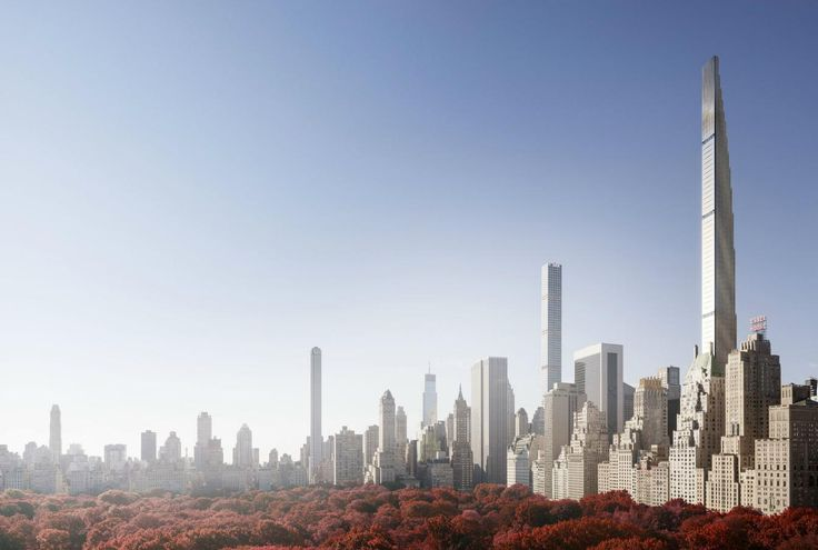 Rendering of 111 West 57th Street; SHoP Architects