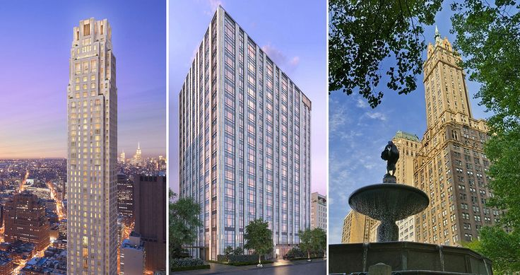 (l-r) The Four Seasons Private Residences (#2), The Tower at Gramercy Square (#8 and #10), and Sherry Netherland Hotel (#3) were among the week's top Manhattan sales.