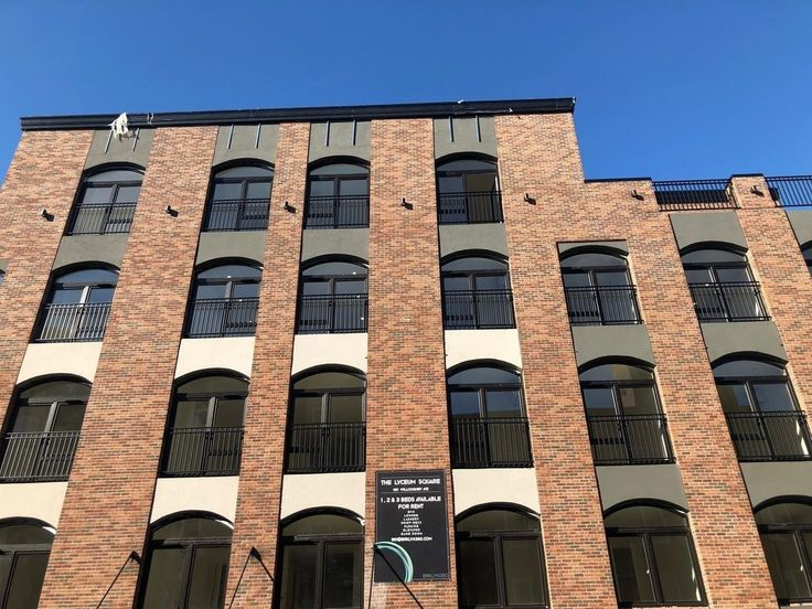 Facade of the new Lyceum Square rentals in Bushwick via GTM Property Group