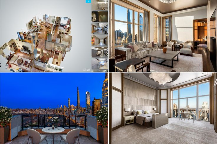 Visit these beautiful homes without leaving your own. (15 Central Park West via Elliman)