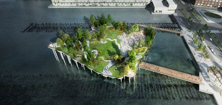 All renderings of Little Island courtesy of The Diller-von Furstenberg Family Foundation/Heatherwick Studio