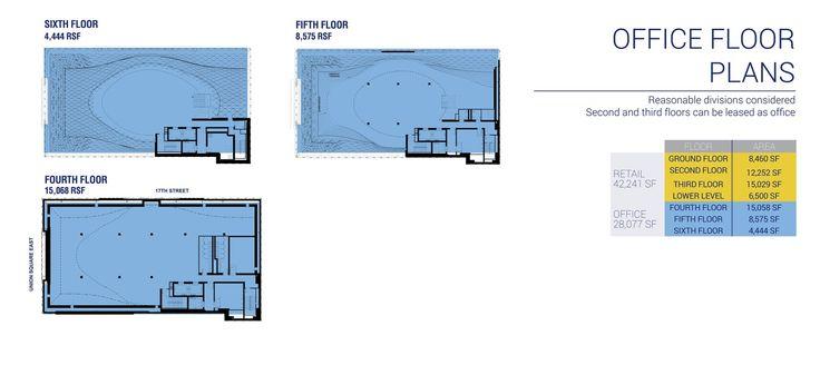 44 Union Square floor plans