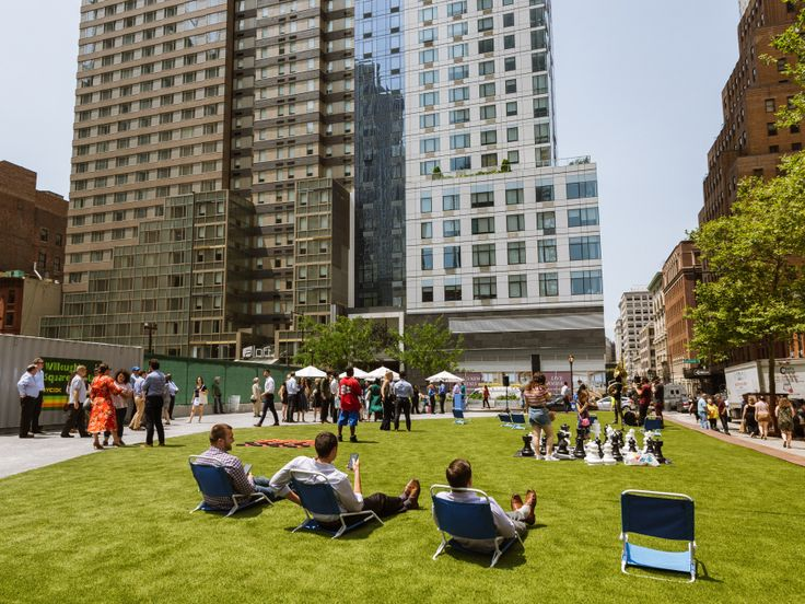Willoughby Square green space via NYCEDC
