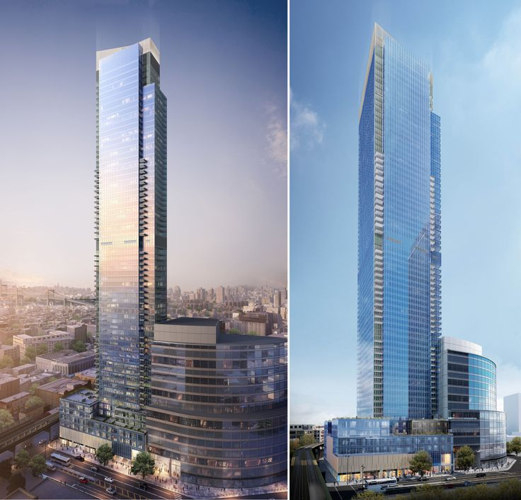 New renderings of Court Square City View Tower; Image credit MAQE via Hill West