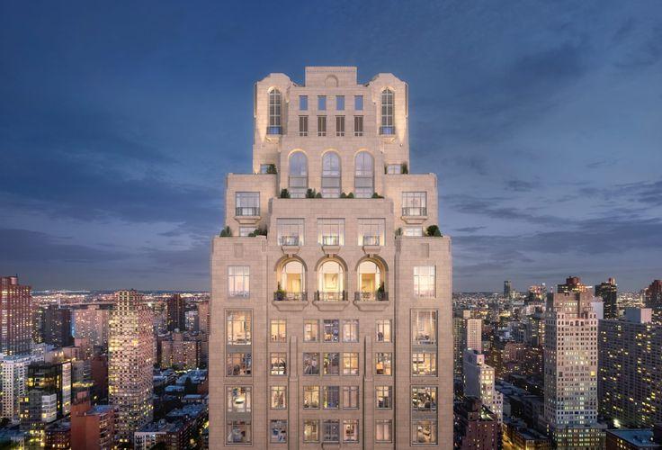 Rendering of the crown of 200 East 83rd Street via Rockefeller Group / Naftali Group