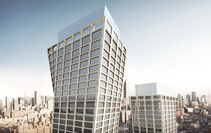 Skyline rendering of The Eleventh via Bjarke Ingels Group