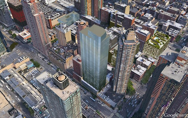 Massing model of 515 West 42nd Street (CityRealty)