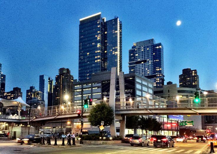 SKY boasts a light feature that enhances its presence on the Manhattan skyline.