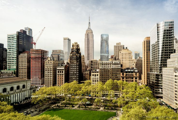 Rendering of 60 West 39th Street (center) as seen from Bryant Park | Credit: Peter Poon Architects (PPA)