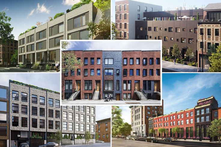 A compilation of Brooklyn's new townhome rows