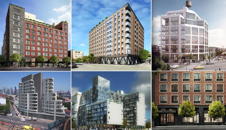 New LIC Condos. From top left moving clockwise: Factory House, The Dutch, The Jackson, 22-43 Jackson, 22-12 Jackson, Harrison