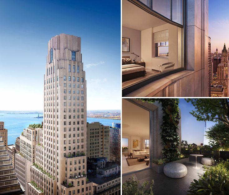 All renderings of One Wall Street via DBOX