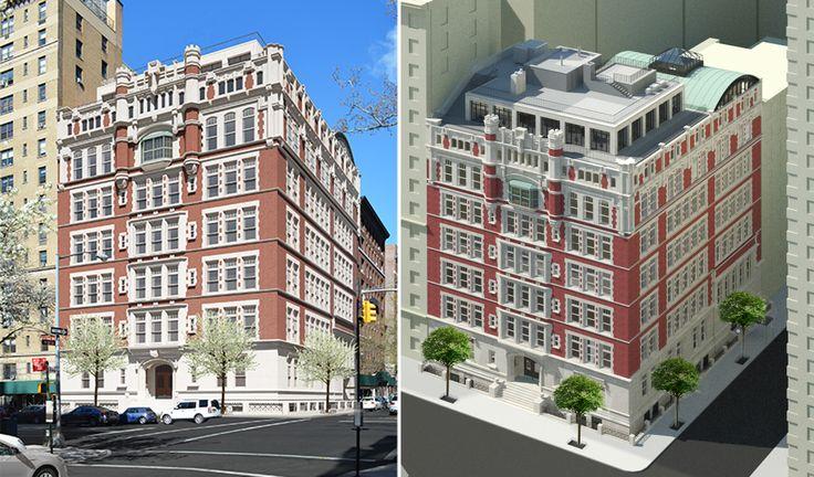Exterior renderings of 555 West End Avenue