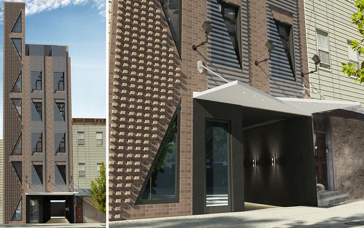 447 Meeker Avenue will feature a unique geometric design, and host 13 apartments across 6 floors.